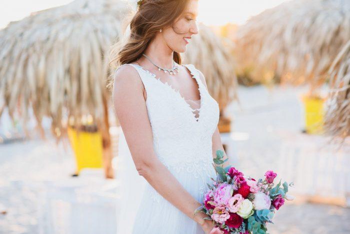 Плажна сватбена фотосесия на Лина