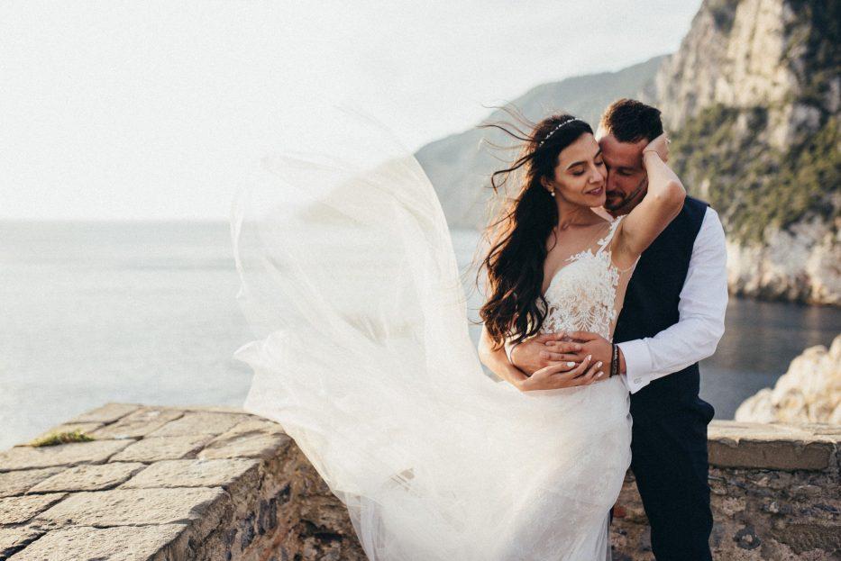 Сватба в Италия - Сватбен фотограф Италия, Сватбен портрет на Габи и Жоро